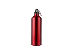 750ml Aluminum Water Bottle - Red