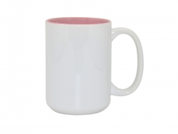 15oz Two-Tone Color Mugs - Pink