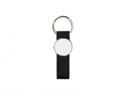 Strip PU Key Chain(Round)