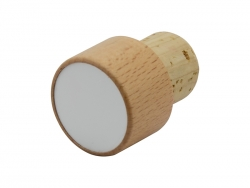 Wooden Wine Bottle Stopper (Round)