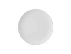 6 in. White Plastic Plate