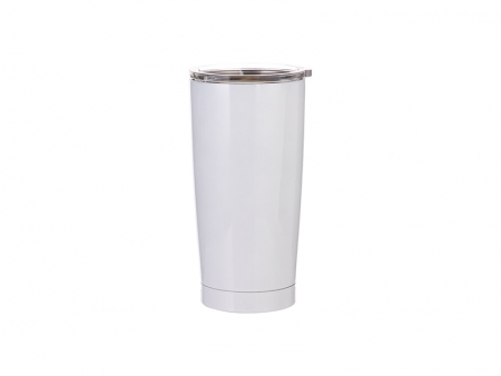 20oz Stainless Steel Tumbler (White)