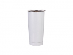 20oz Stainless Steel Tumbler (White)