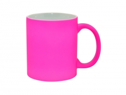 11oz Fluorescent Mug(Frosted, Purple Red)