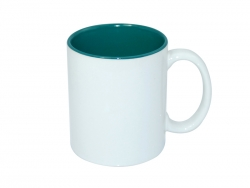 11oz Two-Tone Color Mugs - Green