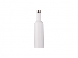 25oz/750ml Stainless Steel Wine Bottle (White)