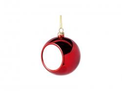 8cm Plastic Christmas Ball Ornament (Red)