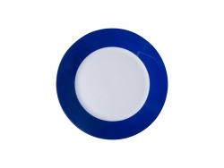 """8"""" Plate w/ Blue Edge"""