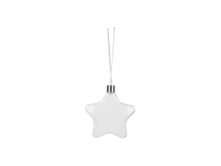 Hanging Plastic Ornament (Star, 9*9.5cm)