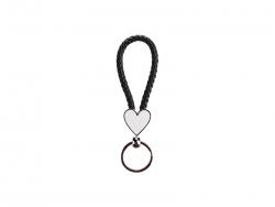 Heart Braided Keyring (Black)