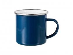 12oz Enamel Mug w/ Flat Bottom-Dark Blue