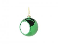 8cm Plastic Christmas Ball Ornament (Green) MOQ:100