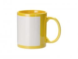 11oz Full Colour Mug w/ White Patch(Yellow)