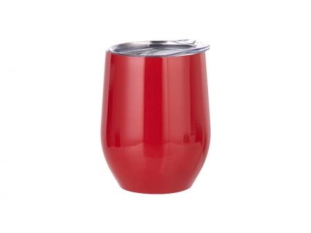 12oz Stainless Steel Stemless Wine Cup (Red)