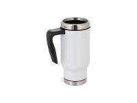 17oz Travel Mug w/ Plastic Insert(White)