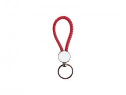 Round Braided Keyring (Red)