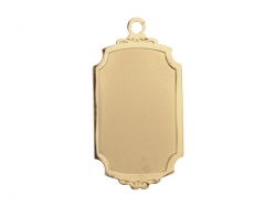 Gold Necklace (Rectangular)