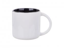 14oz Two-Tone Color Mug (Black)