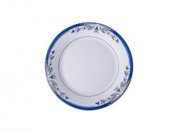 "8"" Rim Plate w/ Blue Flower"