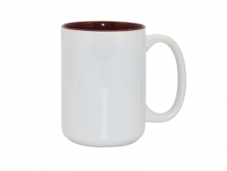 15oz Two-Tone Color Mugs - Maroon