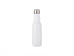 16oz/500ml Stainless Steel Beer Bottle (White)