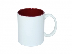 11oz Two-Tone Color Mugs - Maroon