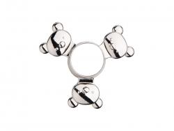 Fidget Spinner(Panda, Silver)