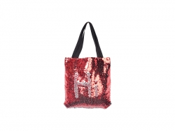 Sequin Double Layer Tote Bag(Red/Silver, 35*38cm)