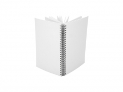 A4 Wiro Fabric Notebook