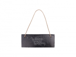 Rectangular Hanging Slate(25*10cm)