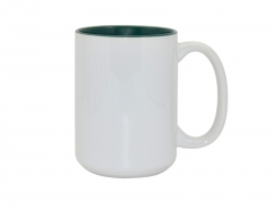 15oz Two-Tone Color Mugs - Green