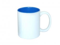 11oz Two-Tone Color Mugs - Medium Blue