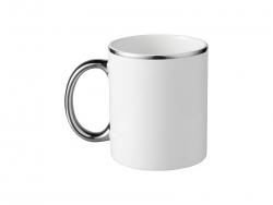 11oz Color Rim Handle Mug(Silver)