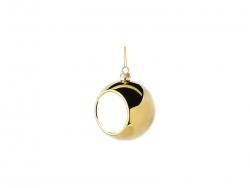 6cm Plastic Christmas Ball Ornament (Gold)
