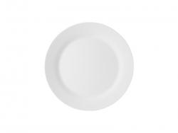 10 in. White Plastic Plate