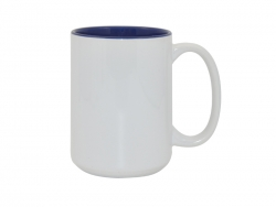15oz Two-Tone Color Mugs - Blue
