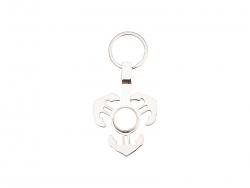 Fidget Spinner Key Ring (Anchor, Silver)