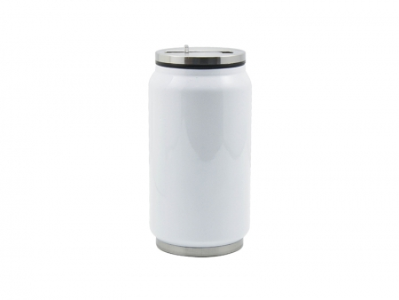 12oz stainless steel coke can with straw white best for Coke can heater