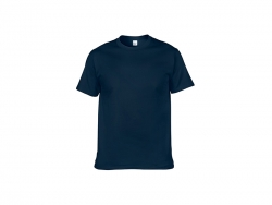 Cotton T-Shirt-Dark blue