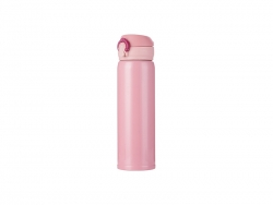 500ml/17oz Pop Lid Stainless Steel Bottle (Pink)