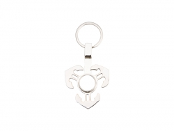 Fidget Spinner Key Ring (Anchor, Silver)