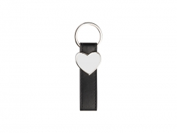 Strip PU Key Chain(Heart)