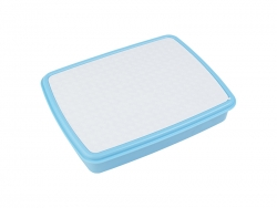 Plastic Lunch Box w/ Grid(Light Blue) w/ Insert