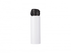 500ml/17oz Pop Lid Stainless Steel Bottle (White)