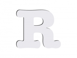 Sublimation HB Letters -R (10*10cm)