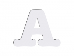 Sublimation HB Letters -A (10*10cm)