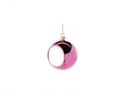 6cm Plastic Christmas Ball Ornament (Rose red)