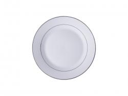 "8"" Rim Plate w/ Silver Rim"