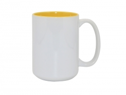 15oz Two-Tone Color Mugs - Yellow