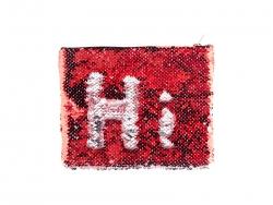 Sequin Makeup Bag / Pencil Case (Red/Silver, 16.5*20.5cm)